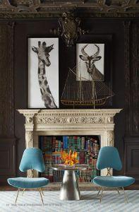 Fireplace Bookshelf Cami Weinstein