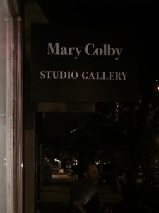Mary Colby Gallery Sign