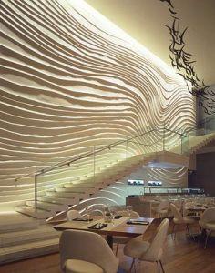 The Blue Fin Restaurant W Times Square Wall Surface Interiors Interior design Yabu Pushellberg