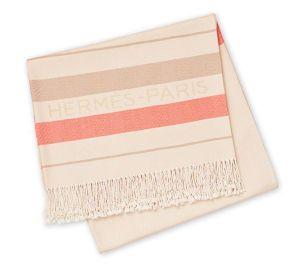 Hermes printed beach blanket Cami Weinstein