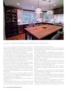 Cami Weinstein East Coast Home Design Magazine