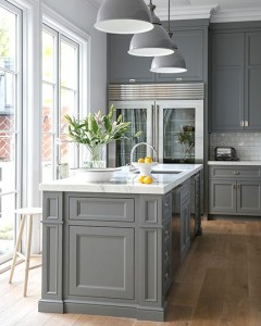 Gray Kitchen Cabinets Island Cami Weinstein