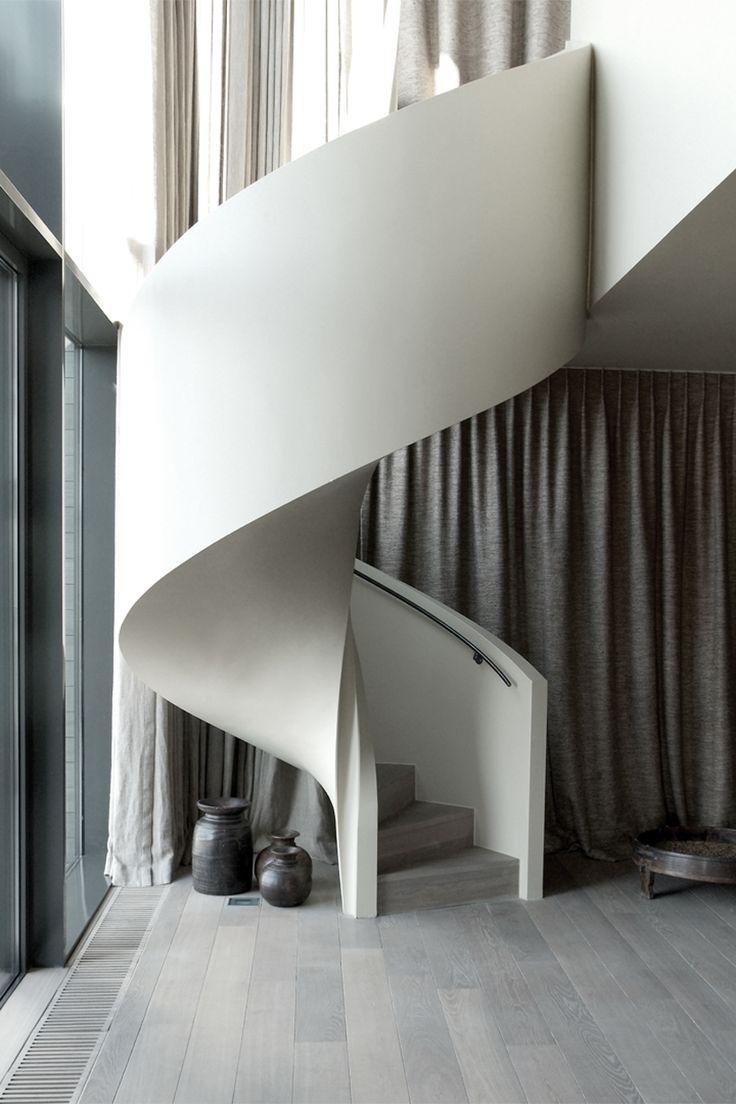 Mimialist Modern Staircase Cami Weinstein