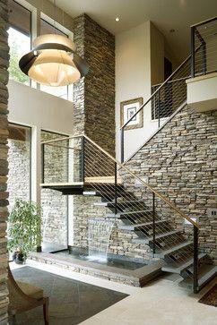 Modern Stone Staircase Cami Weinstein