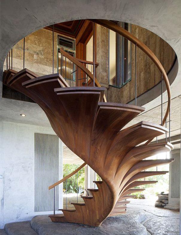 Natural Wood Staircase Cami Weinstein