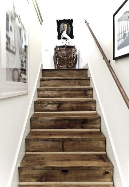 Weathered Wood Stairs Cami Weinstein