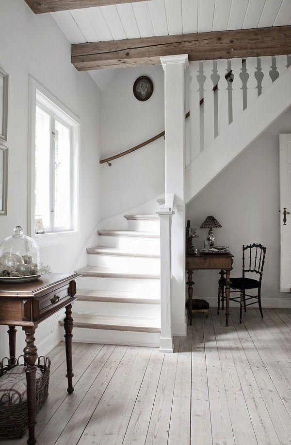 White Staircase Banister Cami Weinstein