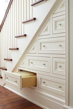 White Staircase Drawers Cami Weinstein
