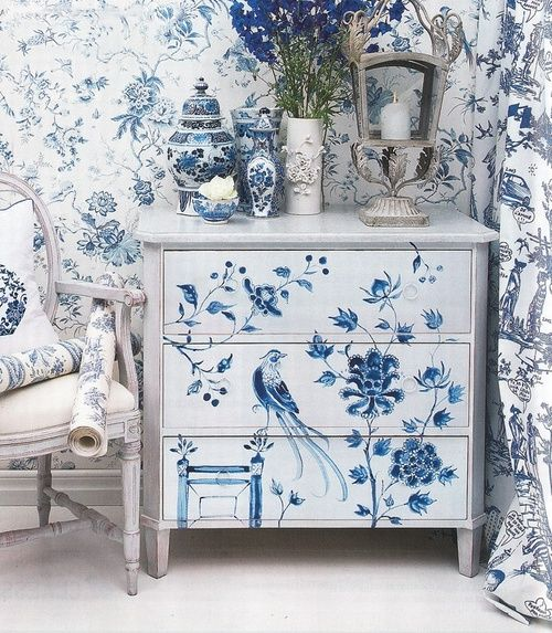 Chinoiserie Blue Cami Weinstein