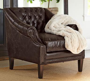 Grantham Leather Armchair Cami Weinstein