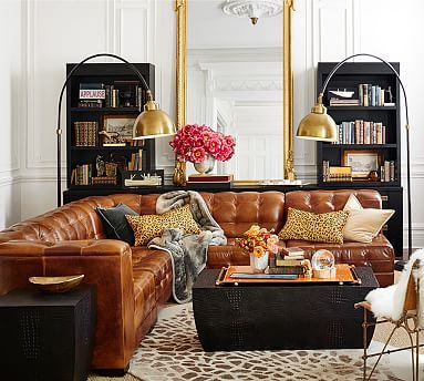 Leather Sectional Cami Weinstein