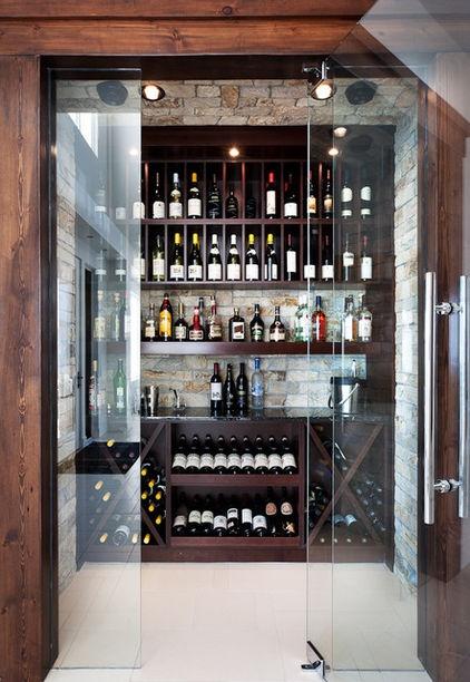 Lake House Cabin Wine Cellar Cami Weinstein