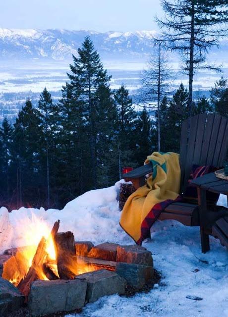 Cabin Fire Pit Cami Weinstein