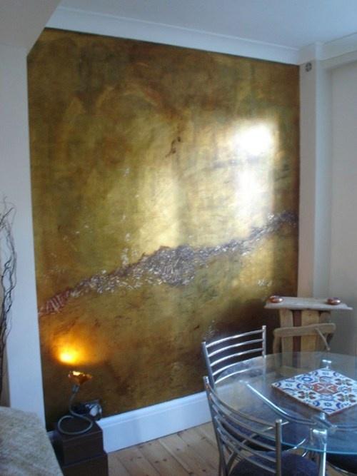 Gold Metallic Walls Cami Weinstein