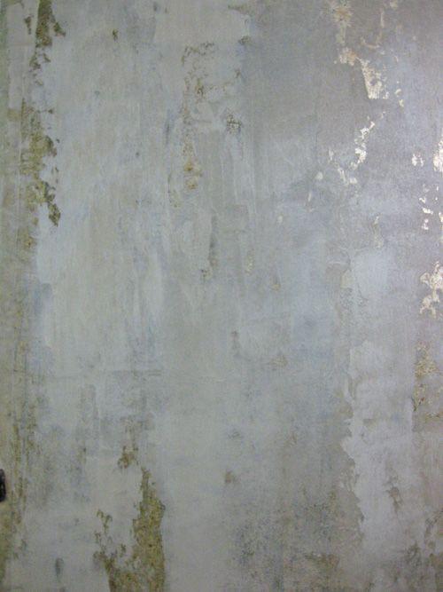 Plaster Metallic Foil Walls Cami Weinstein