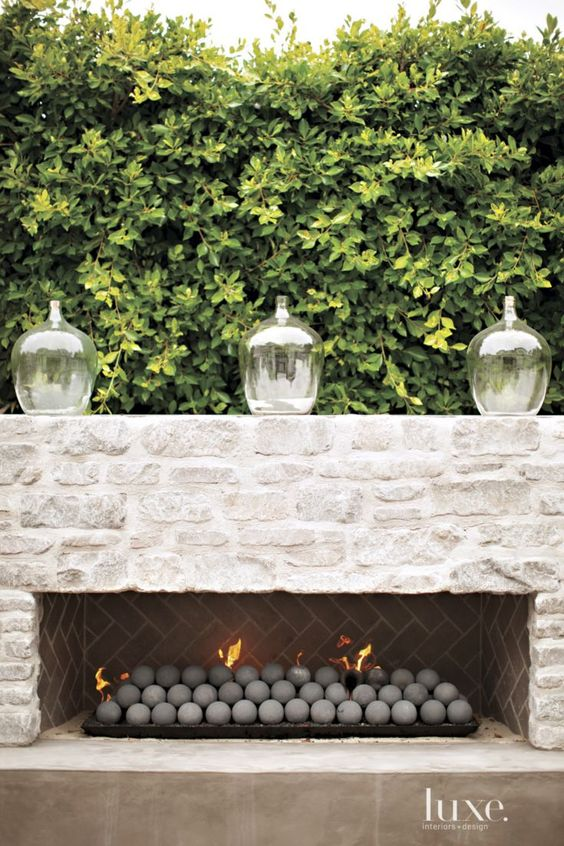 Outdoor Fireplace Cami Weinstein