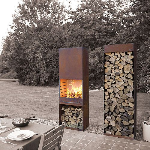 Steel Outdoor Fireplace Cami Weinstein