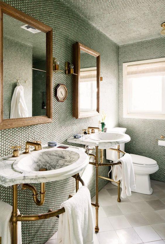 Brass Bathroom Details Cami Weinstein