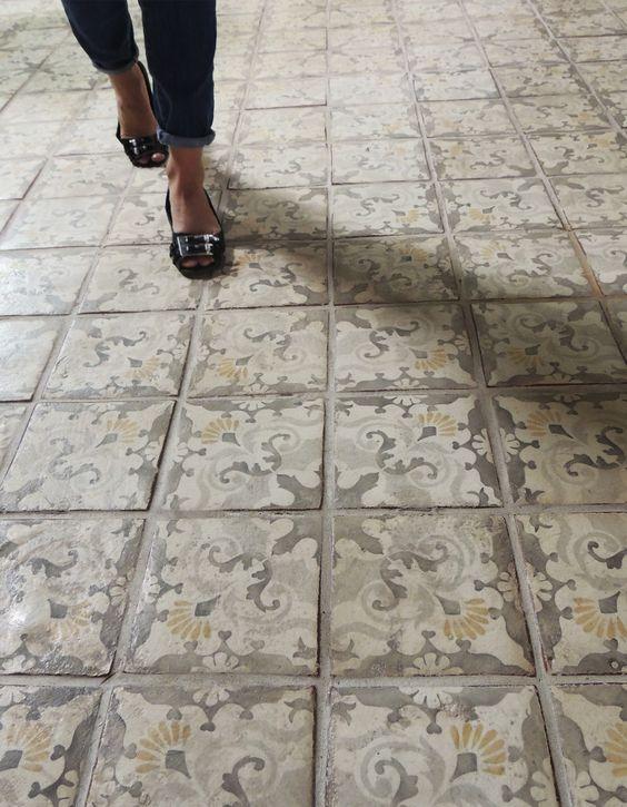 Cement Tile Mudroom Flooring Cami Weinstein