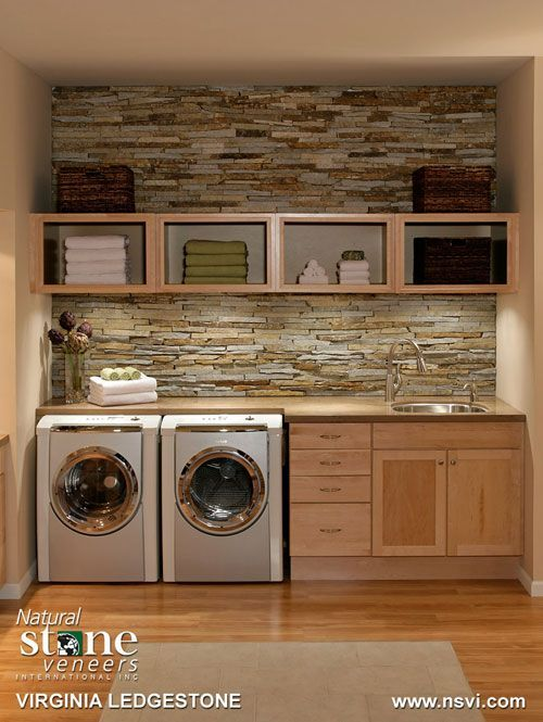 Laundry Room Stone Backsplash Cami Weinstein