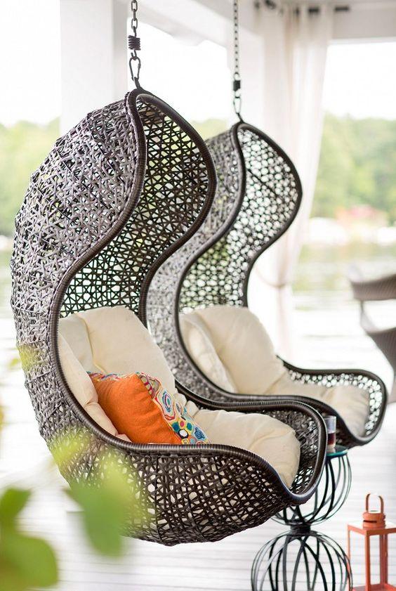 Hanging Wicker Chair Cami Weinstein