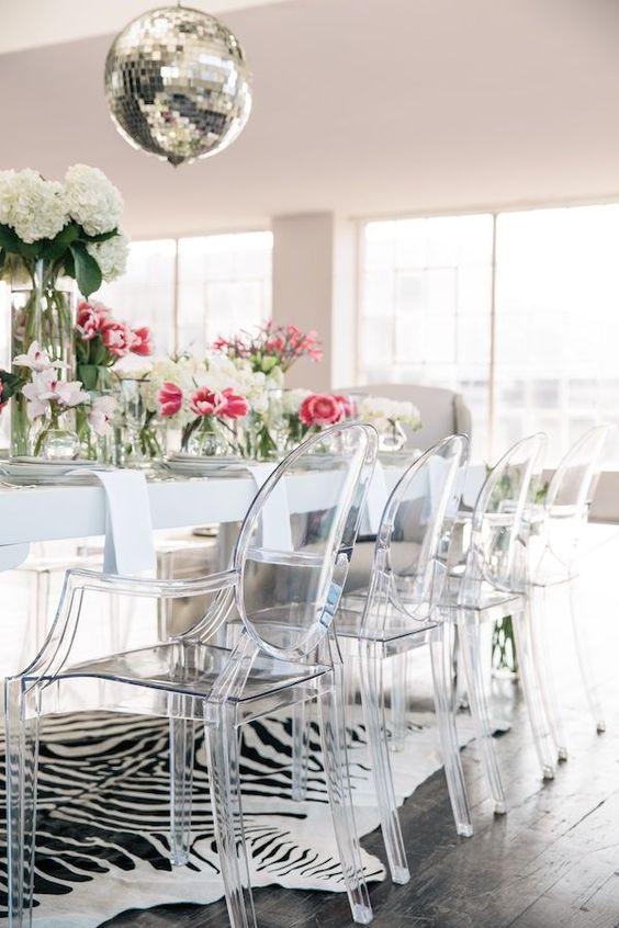 Lucite Chairs Cami Weinstein