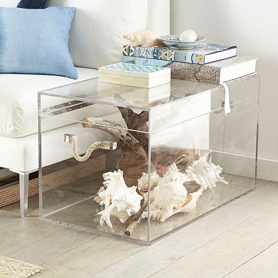 Lucite Coffee Table Cami Weinstein Designs LLC