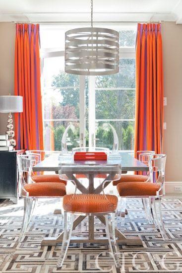 Lucite Dining Chairs Cami Weinstein Design LLC