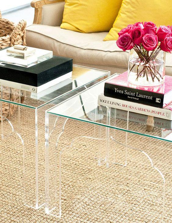 Lucite Table Set Cami Weinstein