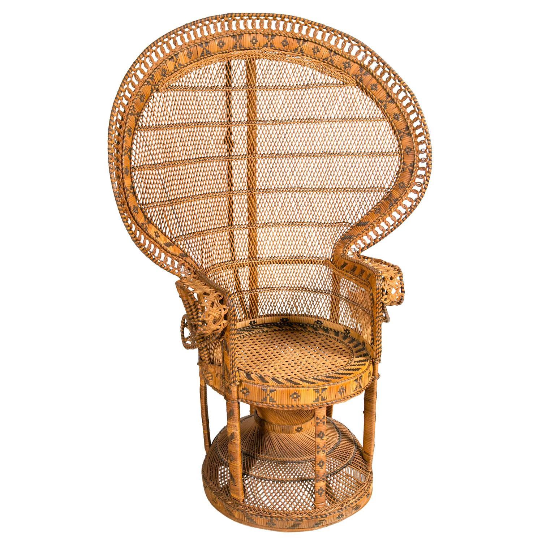 Rattan Peacock Chair 1st Dibs Cami Weinstein