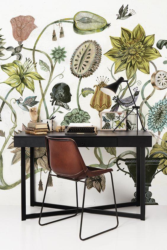 Wallpaper Mural Cami Weinstein Design Blog