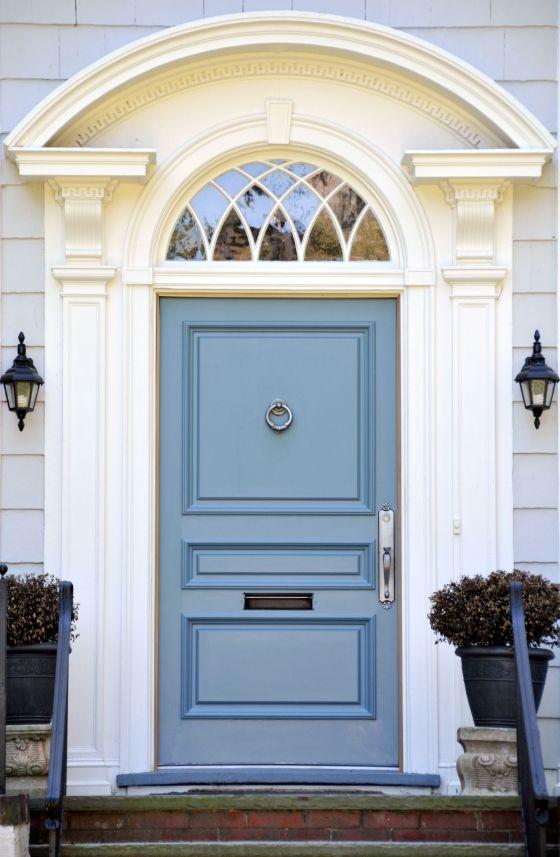 Country Blue Front Door Cami Weinstein