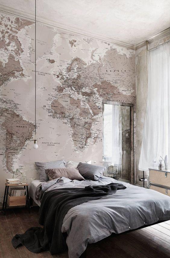 map-wallaper-murals-wallpaper