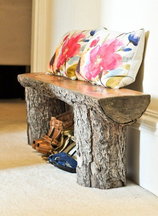 wood-log-bench