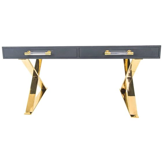 Modern Desk with Marble Top