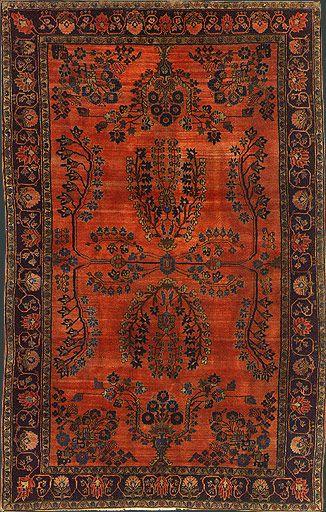 Persian Mohajeran Sarouk rug