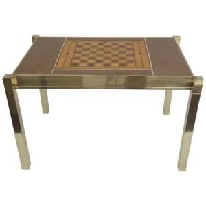 Polished Brass Backgammon Table Cami Weinstein
